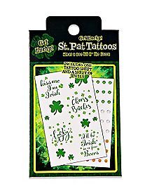 St. Patrick's Day Temporary Tattoos and Jewels