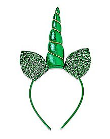 Green Glitter Unicorn St. Patrick's Day Headband