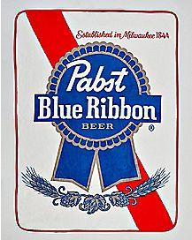 Pabst Blue Ribbon Fleece Blanket