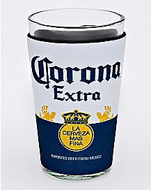 Corona Pint Glass and Huggie