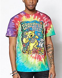 Space Bear Tie Dye Grateful Dead T Shirt