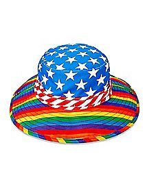 Rainbows Stars and Stripes Boonie Hat