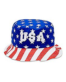 Stars and Stripes USA Bucket Hat