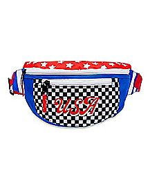 Checkered USA Fanny Pack