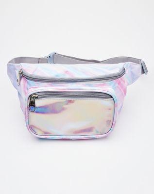 irisdescent fanny pack