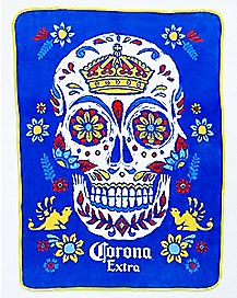 Sugar Skull Corona Extra Fleece Blanket