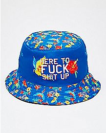 Floral Here To Fuck Shit Up Bucket Hat
