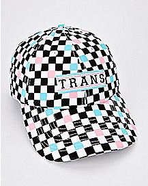 Checkered Trans Dad Hat