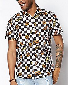 Checkered Sun Sublime Button Down Shirt