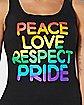 Peace Love Respect Pride Tank Top