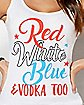 Red White Blue and Vodka Tank Top