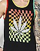 Checkered Leaf Tank Top
