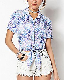 Mermaid Button Down Shirt