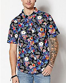 Aloha Fuckers Floral Button Down Shirt