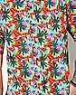 Tie Dye Leaf Button Down Shirt