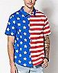 American Flag Button Down Shirt