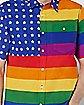 Rainbow Flag Button Down Shirt