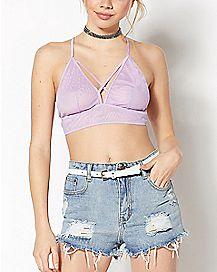 Purple Mesh Bralette