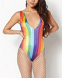 Metallic Rainbow Bodysuit