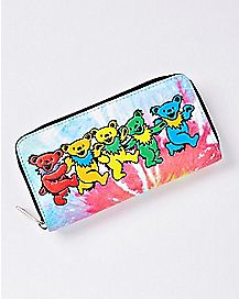 Bears Tie Dye Grateful Dead Zip Wallet