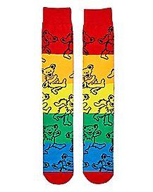 Rainbow Grateful Dead Crew Socks