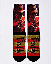 Freddy Krueger Crew Socks - A Nightmare on Elm Street