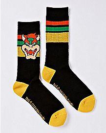 Athletic Bowser Crew Socks - Nintendo