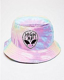 Tie Dye High AF Alien Bucket Hat