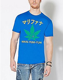 Mari Yum Yum Weed Leaf T Shirt