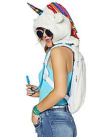 Faux Fur Unicorn Hydration Bag