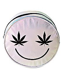 Iridescent Smiley Face Mini Backpack