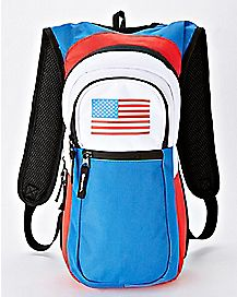 American Flag Built Up Hydration Bag