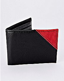 Black and Red Zipper Bifold Wallet