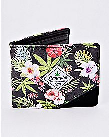 Cannabis Floral Bifold Wallet