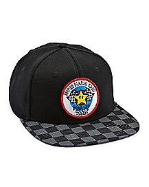 Checkered Super Mario Kart Snapback Hat - Nintendo