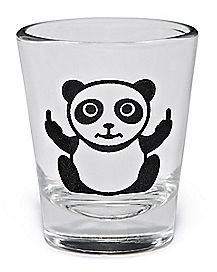 Middle Finger Panda Shot Glass - 1.5 oz.