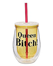 Queen Bitch Cup With Straw - 12 oz.