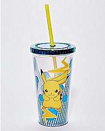 Light-Up Pikachu Cup With Straw 20 oz. - Pokemon