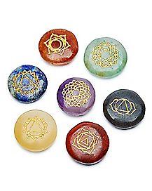Engraved Chakra Stones