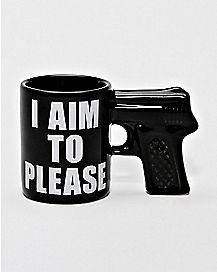 Gun I Aim To Please Shot Glass - 2 oz.