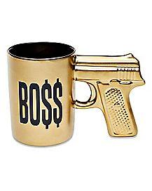 Goldtone Gun Boss Coffee Mug - 18 oz.