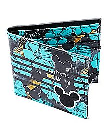 Floral Mickey Mouse Bifold Wallet - Disney