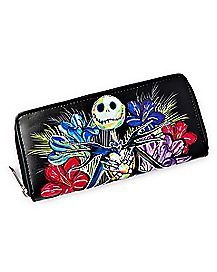 Floral Jack Skellington Zip Wallet - The Nightmare Before Christmas