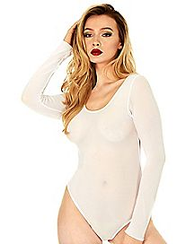White Sheer Bodysuit