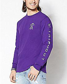 Trip Out Alien Long Sleeve T Shirt