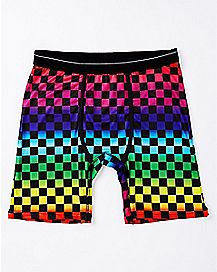 Rainbow Checkered Boxer Briefs