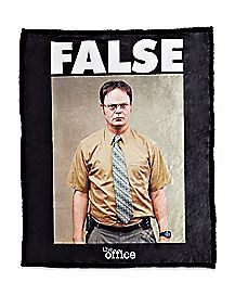 FALSE Dwight Fleece Blanket - The Office