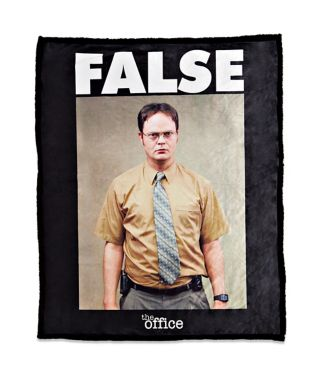 False The Office Fleece Blanket