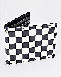 Checkered Bifold Wallet