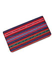 Striped Snap Wallet
